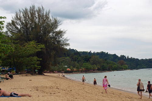 Am Strand in Khao Lak