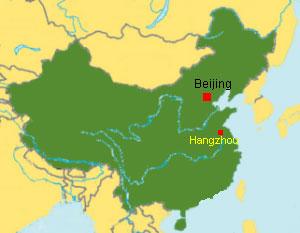 kaiserkanal china karte Angelikas Reisen Reisebericht China 1988 Hangzhou